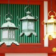 Closeup of bronze lanterns in Kasuga shrine, Nara, Japan — Stock Photo