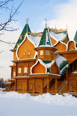 Full-scale reconstruction of wooden palace in Kolomenskoe, a for — Foto de Stock