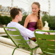 Romantic couple in Paris in Tuileries garden — Stock Photo #13809106