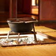 Irori - traditional Japanese hearth - Stock Photo