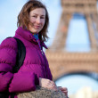 Young tourist girl in Paris — Stock Photo