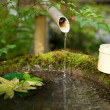 Stock Photo: Japanese water source and ladle for purification of hands