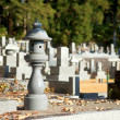Japanese cemetery in Takayama, Gife prefecture, Japan — Stock Photo