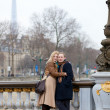 Stock Photo: Happy couple in Paris, dating