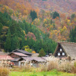 Houses in historic village Shirakawa-go, Gifu prefecture, Japan — Foto de Stock