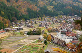 View of the historic village Shirakawa-go in Gifu prefecture, Ja — Stock Photo