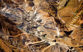 Aerial view of a sulfur quarry in Hakone, Japan — Stock Photo