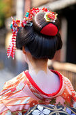 Momoware - traditional hairstyle of a young Maiko — Stock Photo