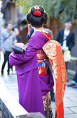 Young Maiko on a street of Gion, Kyoto, Japan — Stock Photo