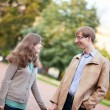 Royalty-Free Stock Photo: Young happy couple spending time together outdoors