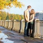 Beautiful young couple having a date. Saint-Petersburg, Russia — Stock Photo