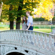 Royalty-Free Stock Photo: Romantic loveing couple on a bridge