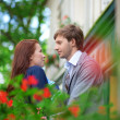 Royalty-Free Stock Photo: Man and woman together on balconyof their house or hotel
