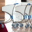 Three airport luggage carts — Stock Photo #18053869