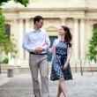 Couple walking in Paris — Stock Photo