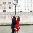 Dating couple in Paris — Stock Photo #18372565