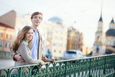 Beautiful couple walking — Stock Photo