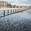 Flooded embankments in Paris — Stock Photo #19948611