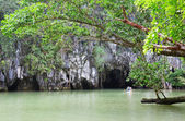 Ingang naar de puerto princesa ondergrondse rivier — Stockfoto