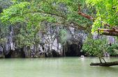 Puerto princesa yeraltı nehri girişinde — Stok fotoğraf
