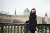Happy young student in Paris — Stock Photo