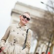 Happy young lady in Paris — Stock Photo #22064149