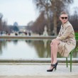 Beautiful woman in the Tuileries park — Stock Photo #22462887