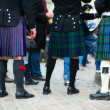 Men in traditional kilts - Stock Photo
