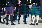 Men in traditional kilts — Stock Photo