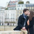 Loving couple kissing outdoors — Stock Photo