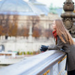 Romantic girl in Paris by fall — Stock Photo #22813846
