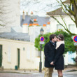 Royalty-Free Stock Photo: Romantic couple on Montmartre