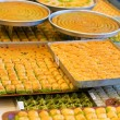 Sweet and tasty Turkish baklava — Stock Photo