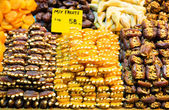 Dry fruits on the Egyptian bazaar of Istanbul — Stock Photo
