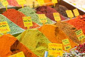 Spices on the spice market of Istanbul — Stock Photo