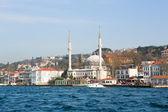 モスクとイスタンブールの町並みpanoráma Istanbulu s mešitou — Stock fotografie