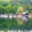 Ferries in Plitvice lakes national park — Stock Photo