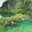 Cascades at Plitvice lakes — Stock Photo