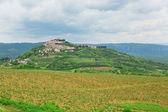 Pohled na města motovun, Chorvatsko — Stock fotografie