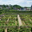 Stock Photo: Topiary and kitchen garden in Villandry castle