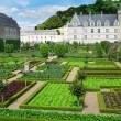 Stock Photo: Beautiful Villandry castle , Loire valley, France