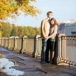 Couple having a date. Saint-Petersburg, Russia — Stock Photo