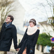 Dating couple walking on Montmartre — Stock Photo #28947799