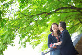 Couple outdoors on a summer or fall day — Foto Stock