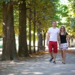 Couple in Tuileries garden — Stock Photo #29664829