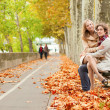 Romantic couple dating at fall — Stock Photo #29671527