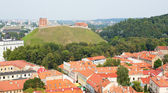 View of Vilnius with Gediminas tower — Stock Photo