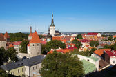 View of the Old Town of Tallinn — Stock Photo