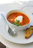 Delicious fish soup — Stock Photo