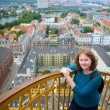 Stock Photo: Girl on top of Vor Frelsers Kirke